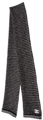 Chanel CC Knit Scarf