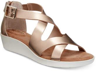 Giani Bernini Fayee Memory Foam Wedge Sandals, Created for Macy's Women's Shoes