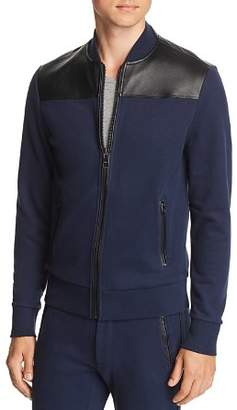Michael Kors Leather-Trimmed Track Jacket