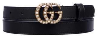 Gucci GG Marmont Embellished Belt Black GG Marmont Embellished Belt