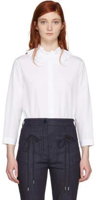 Nina Ricci White Ruffle Collar Shirt
