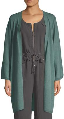 Eileen Fisher Open-Front Cashmere Cardigan