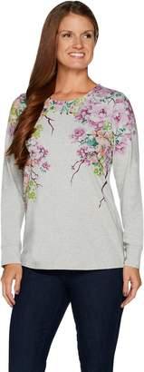 Denim & Co. Studio by Floral Print Long Sleeve Top