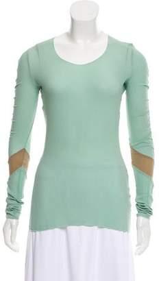 Balenciaga Silk Long Sleeve Top
