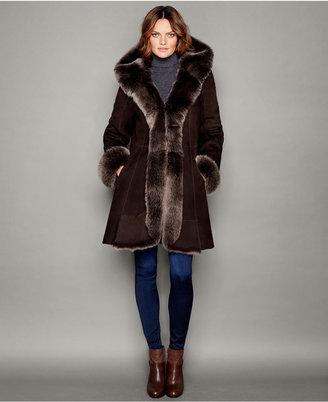 The Fur Vault Hooded Shearling Lamb Coat $3,995 thestylecure.com