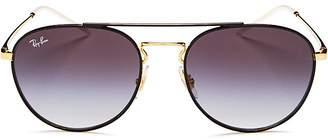 Ray-Ban Brow Bar Round Sunglasses, 55mm