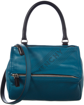 Givenchy Pandora Small Perforated Leather Shoulder Bag