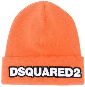 DSQUARED2 ribbed logo hoodie