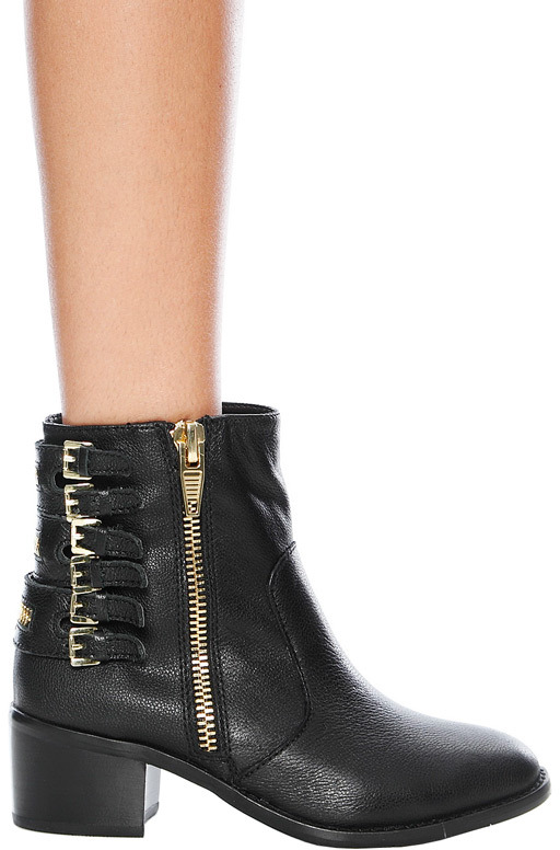 Dolce Vita DV Meeka Bootie with Buckle Detail in Black