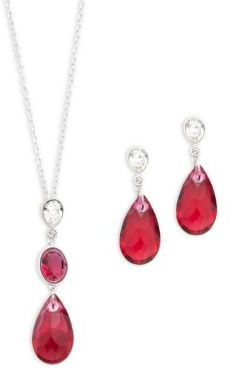 Swarovski Spectacular Pendant Necklace & Drop Earrings Set