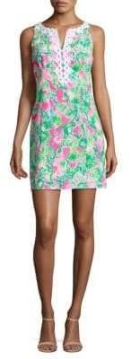 Lilly Pulitzer Gaby Palm-Print Mini Dress