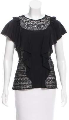 Marissa Webb Lace Short Sleeve Top