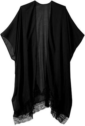 Orchid Row's Kimono with Lace Trim