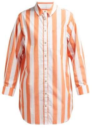 Mara Hoffman Bennett Striped Cotton Shirt - Womens - Orange White