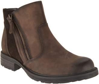 Earth Vintage Leather Side Zip Ankle Boots - Jordan