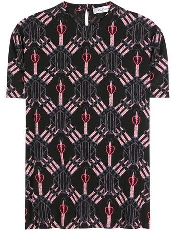 ValentinoValentino Printed Silk Top