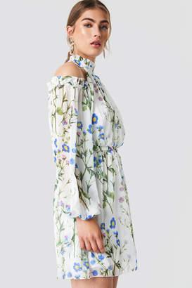 Trendyol Cold Shoulder Flower Dress