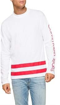 Calvin Klein Athletic Stripe Hem Logo Ls Tee