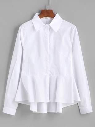 Shein Dip Hem Peplum Shirt