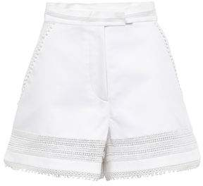 Talitha Collection Crochet-trimmed Cotton Shorts