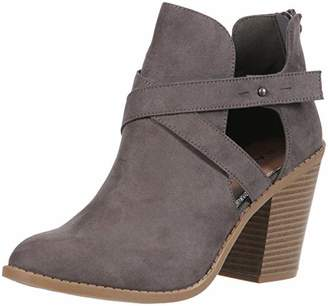 Rampage Vedette Womens Side Cut Out Chunky Stacked Heel Ankle Bootie Boot