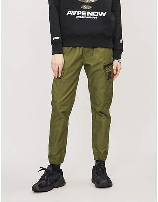 Aape Army high-rise cotton trousers