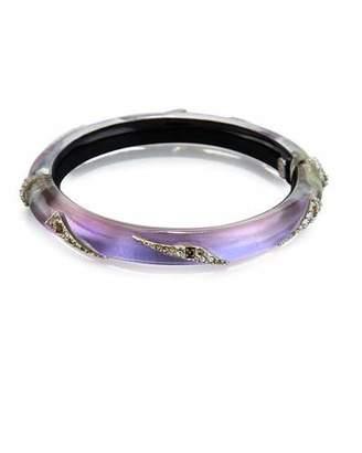 Alexis Bittar Origami Hinge Bracelet, Purple $195 thestylecure.com