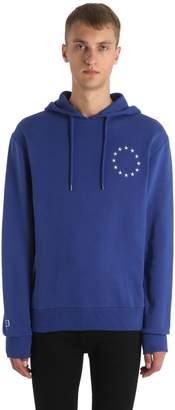 Europa Hooded Cotton Jersey Sweatshirt
