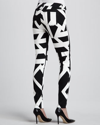 J Brand Jeans Mid-Rise Super Skinny Graphic Jeans