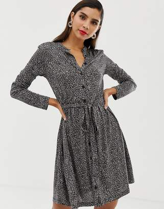 French Connection belted animal jersey shirt dress