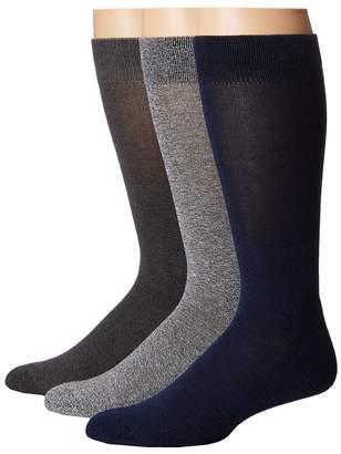 Hue Marled Sock with Half Cushion 3-Pack Men's Crew Cut Socks Shoes