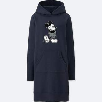 Uniqlo Women's Mickey Stands Graphic Sweat Long-sleeve Dress