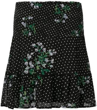 Ganni Rometty georgette mini skirt