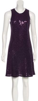 Carmen Marc Valvo Sequin Knee-Length Dress