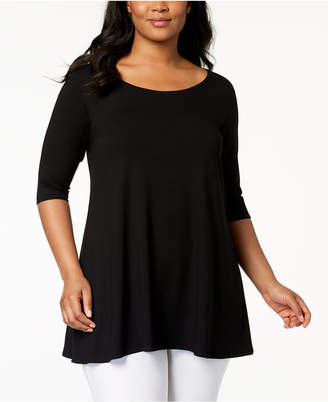 Eileen Fisher Plus Size Stretch Jersey Swing Tunic