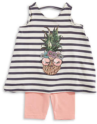 Jessica Simpson Baby Girl's Striped Top and Leggings Set