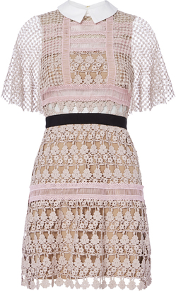 Self-Portrait Floral Lace Blush Cape Dress $545 thestylecure.com