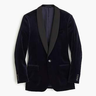 J.Crew Ludlow satin shawl-collar velvet blazer