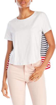 pink tartan Nautical Stripe Tee $195 thestylecure.com