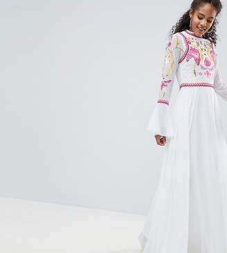 Frock and Frill Tall Frock And Frill Tall Embellished Top Pleated Maxi Dress