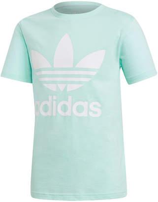 adidas Big Girls Trefoil Graphic-Print T-Shirt