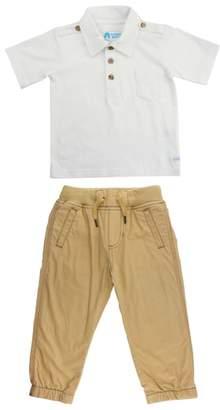 RuggedButts Polo Shirt & Khaki Jogger Pants Set