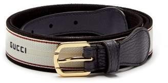 Gucci Logo Jacquard Belt - Mens - Black Multi