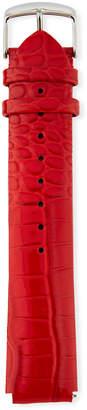 Philip Stein Teslar 20mm Lizard Watch Strap, Red