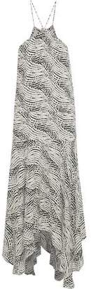 Vix Paula Hermanny Esther Asymmetric Printed Gauze Midi Dress