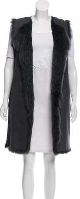 Theory Longline Shearling Vest
