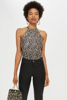 Topshop Leopard Print Sequin Body