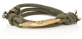 Giles and Brother Men's Rope Wrap Bracelet-Green