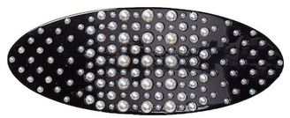 FINEST ACCESSORIES Graduating Faux Pearl Oval Barrette $55 thestylecure.com