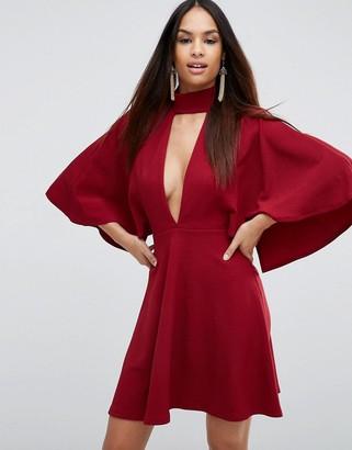 ASOS Choker Kimono Plunge Mini Dress $53 thestylecure.com